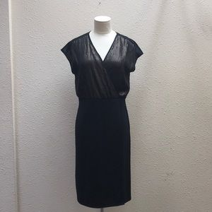 Narciso Rodriguez black Bronze sequin dress size S